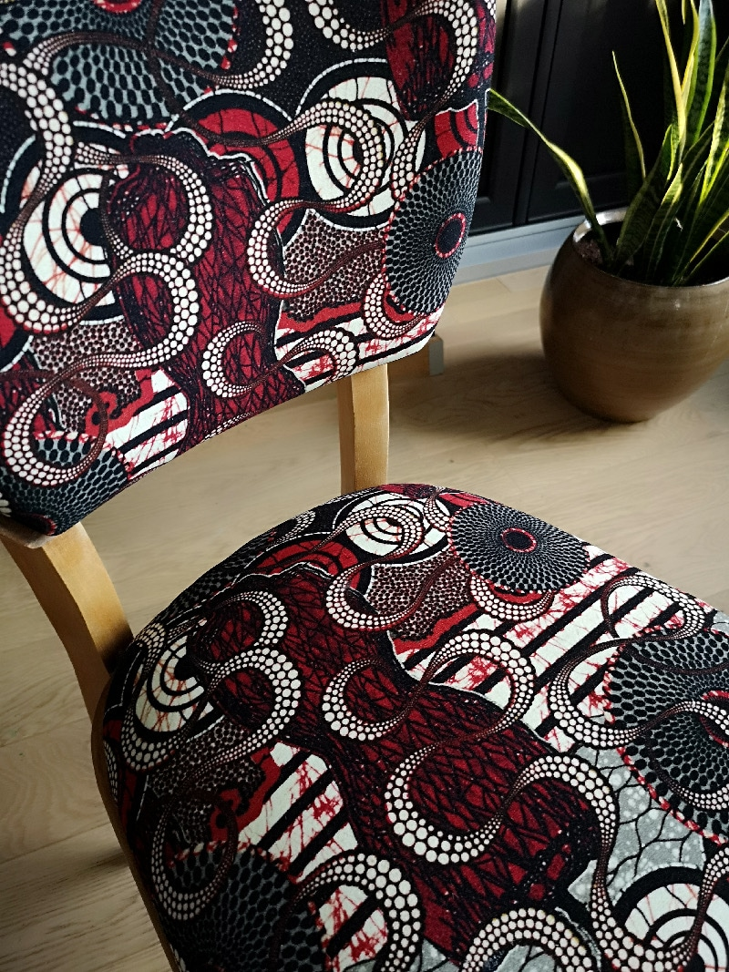 """Tissu Jean Paul Gaultier ensemble de chaises """"meltingpot"""" tissu jean-paul gaultier"""