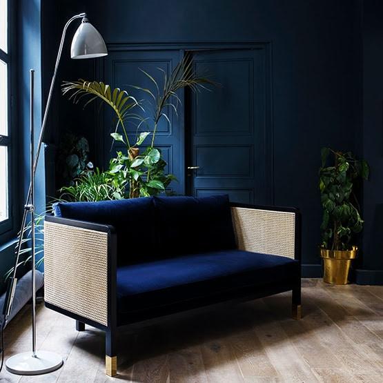 Decoration interieur style art deco 2019 fauteuil bleu
