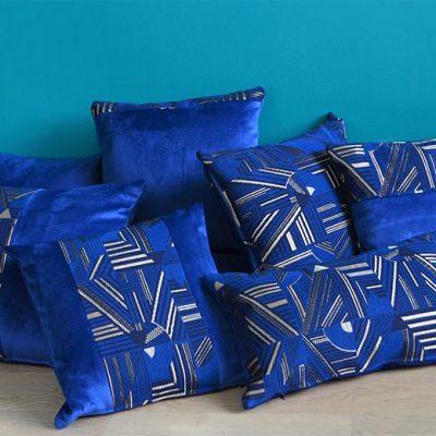 """Coussins Tendance bleu collection """"Nuit d'Orient"""""""