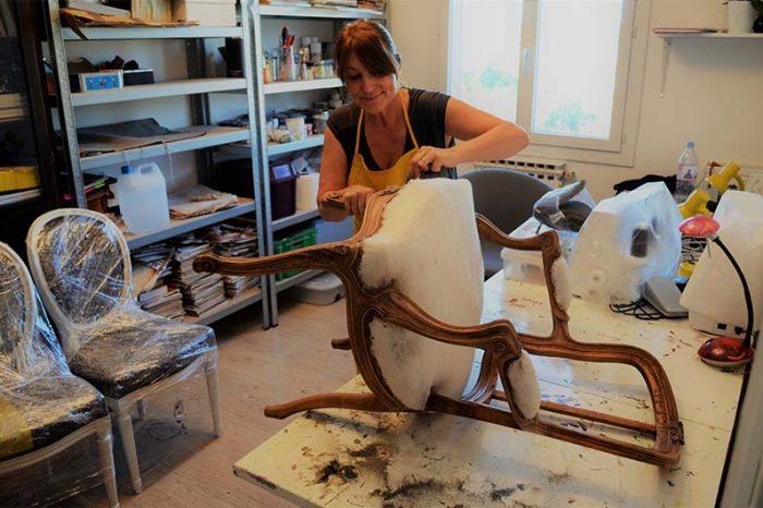 Restauration de chaise par Véronique Ricci - Muda Créations