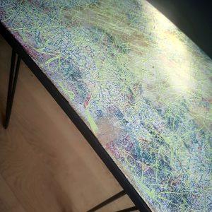 Table peinture Muda Créations
